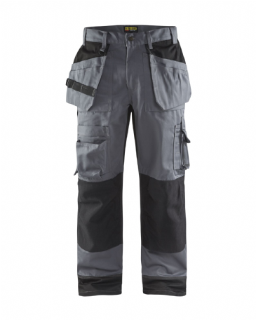 Blaklader 1504 Craftsman Polyester/Cotton Trousers with Nail Pockets (Grey/Black)